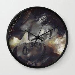 Golden Galaxy Wall Clock