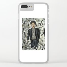 Nail Polish Painting of EXO chanyeol Clear iPhone Case