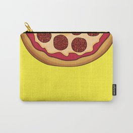 Pizza Home Decor Yellow Art Print Italian Cuisine Pepperoni salami Kitchen Decoration Yellow Art Carry-All Pouch