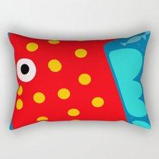 Red Fish illustration for kids Rectangular Pillow