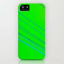Electric skies iPhone Case