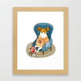 Morran the dog Framed Art Print