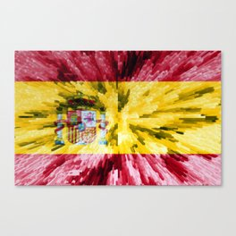 Extruded Flag of Spain Canvas Print