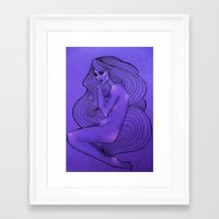 lunar Framed Art Prints featuring LUNAR  by Enola Jay