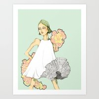 She is Spring Art Print