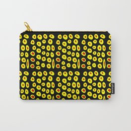 red and yellow polka dot- polka,polka dot,dot,pattern,circle,disc, point,abstract, minimalism Carry-All Pouch