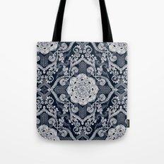 Centered Lace - Dark Tote Bag