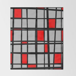 Gridlock - Abstract Throw Blanket
