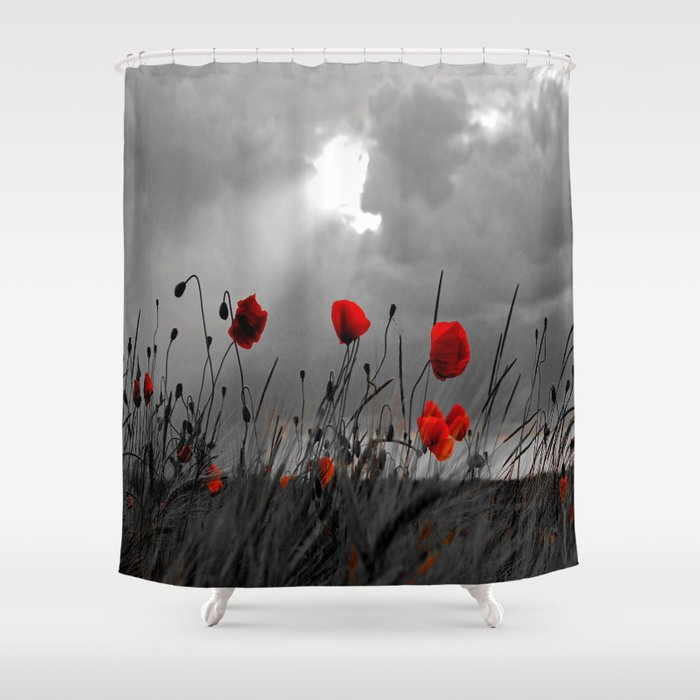 Only Poppies Shower Curtain By Stephaniekoehl
