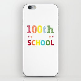 100 days smarter - funny school print - perfect present iPhone Skin