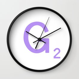 Letter G Scrabble Initial Sign Wall Clock
