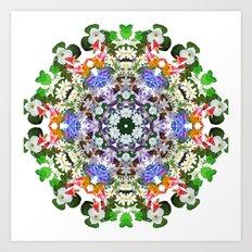 Spring wildflower mandala 2 Art Print