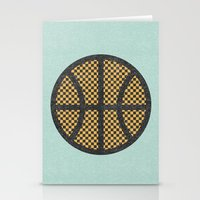 kobe Stationery Cards featuring Op Art Basketball. by Nick Nelson