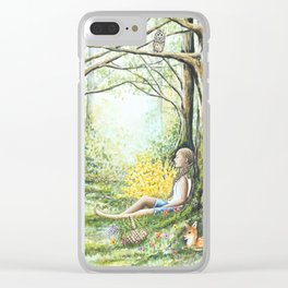 Forest Meditation Clear iPhone Case