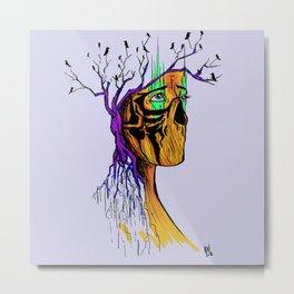 Saving Face Metal Print