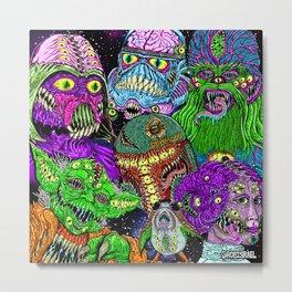 Space Monsters Metal Print