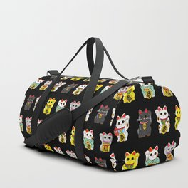 Lucky Cat / Maneki Neko Duffle Bag