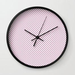 Moonlight Mauve Polka Dots Wall Clock