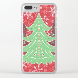 Xmastrees_05a Clear iPhone Case