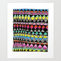quilt Art Prints featuring quilt by KaylaNewell