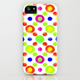 Multicolored Circles Motif Pattern iPhone Case