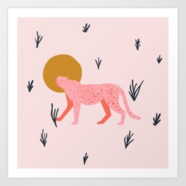 trot cat Art Print