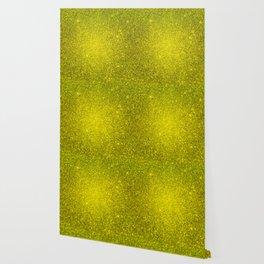 Beryl Yellow Sparkling Jewels Pattern Wallpaper