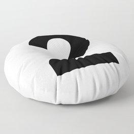 Number 2 (Black & White) Floor Pillow