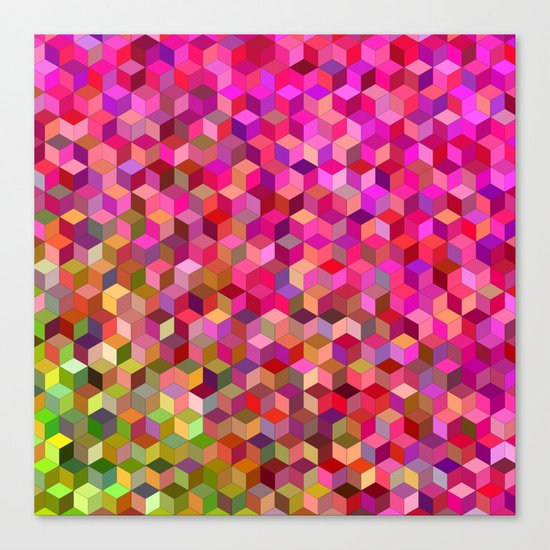 Girly cube structure Canvas Print