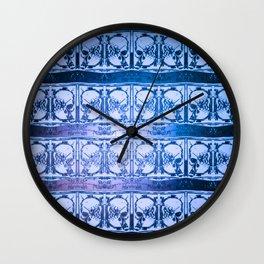 Ice Sword Skulls Wall Clock