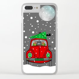 Santa Lane - Merry Christmas Clear iPhone Case