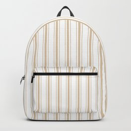 Almond Baby Camel Mattress Ticking Wide Striped Pattern - Fall Fashion 2018 Backpack
