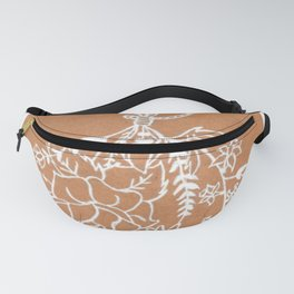 Twined Wildflower Bouquet Illustration Fanny Pack