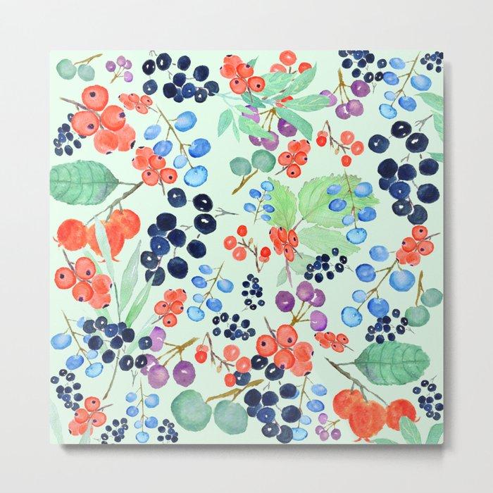 joyful berries Metal Print