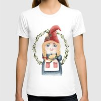 gnome T-shirts featuring Female Gnome by Fercute