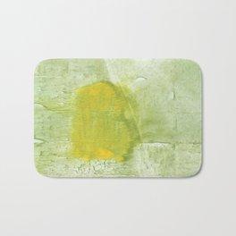 Green abstract aquarelle painting Bath Mat