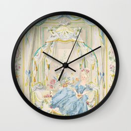 Marie Antoinette Petite Maison Wall Clock