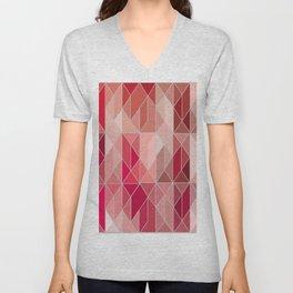 Pattern In Red Gradient Unisex V-Neck