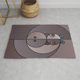 ANIminiMAL - Animal Minimal Hippo Art Print Rug