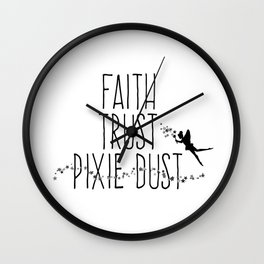 Faith Trust Pixie Dust Fairy Hand Printing Wall Clock