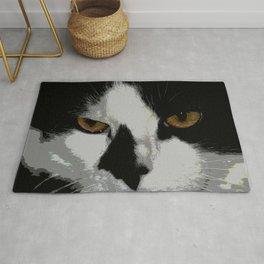 Black white cat II Rug