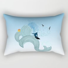 surfing 4 Rectangular Pillow
