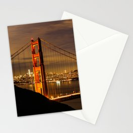 Golden Gate Bridge at Night Stationery Cards