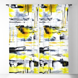 Bumble Bee Abstraction Blackout Curtain