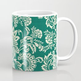 Damask vintage in green Coffee Mug