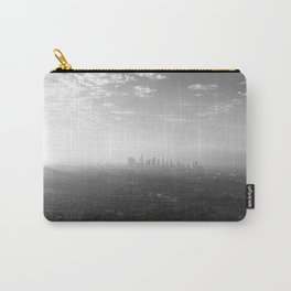 Los Angeles. L.A. Skyline. Black and White. Jodilynpaintings. Sunrise. Sunset. Cityscape. California Carry-All Pouch