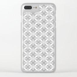 Art Deco Black and White Geo Simetry Clear iPhone Case