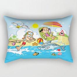 Beach Cartoons Rectangular Pillow