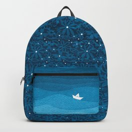 Ornament sky, nautical blue Backpack