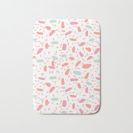 Bessie - abstract minimal modern gender neutral trendy painting dorm college office decor Bath Mat